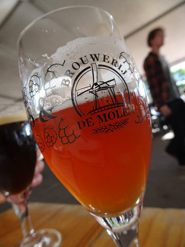 a sample of De Molen beer at the Borefts Beer Festival (Bodegraven, Netherlands) - Sudsy Style - beer fashion for your beer passion