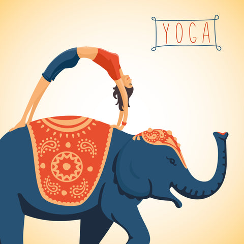 a yogi holds a Yoga pose on an elephant - Sudsy Style - beer fashion for your beer passion