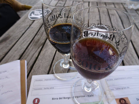 beer samples at Borefts Beer Festival hosted by Brouwerij de Molen in Bodegraven, Netherlands