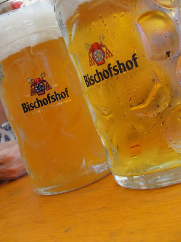 Bischofshof beers at a festival in Regensburg, Bavaria, Germany