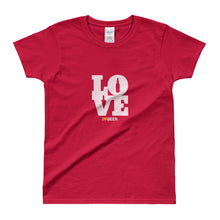 red women's Love Beer short sleeve t-shirt - Sudsy Style - beer fashion for your beer passion