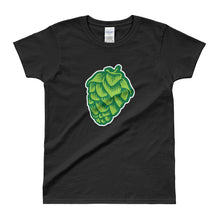 black women's beer-themed Hop Cone t-shirt - Sudsy Style - beer fashion for your beer passion
