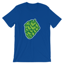 blue men's Hop Cone beer-themed t-shirt - Sudsy Style - beer fashion for your beer passion