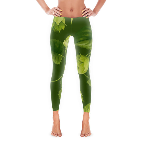 Hipster Hop beer-themed Brewga beer themed hop leggings for yoga from Sudsy Style. - Sudsy Style - beer fashion for your beer passion