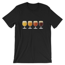 black men's Taster Flight beer-themed t-shirt - Sudsy Style - beer fashion for your beer passion