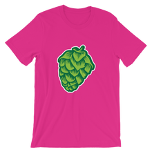 pink men's Hop Cone beer-themed t-shirt - Sudsy Style - beer fashion for your beer passion
