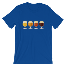 blue men's Taster Flight beer-themed t-shirt - Sudsy Style - beer fashion for your beer passion