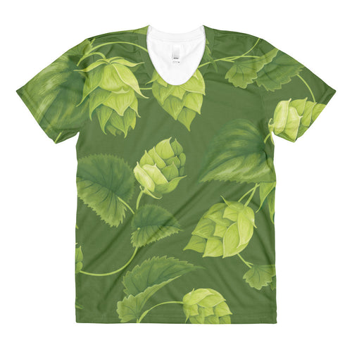 women's Beer themed hop t-shirt from Sudsy Style - beer fashion for your beer passion