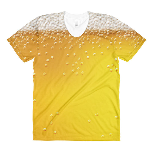 women's beervana All-over beer t-shirt - Sudsy Style - beer fashion for your beer passion