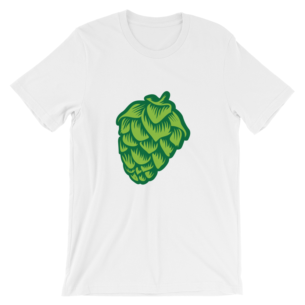 white men's Hop Cone beer-themed t-shirt - Sudsy Style - beer fashion for your beer passion