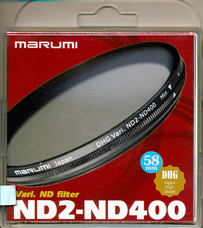 Marumi Variable ND filter ND2-ND400 DHG