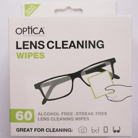 Optica Lens Cleaning Wipes (60 pack)