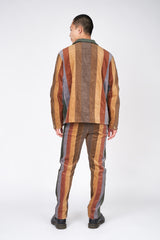 Vertical Paneled Corduroy Jacket