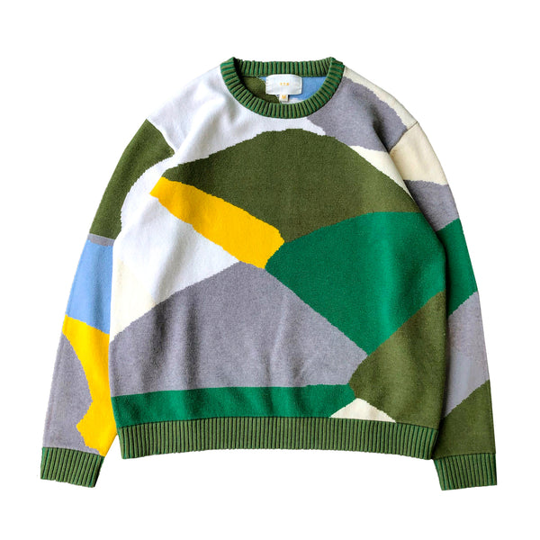 Colorblock Knit Pullover Sweatshirt - Y.T.G