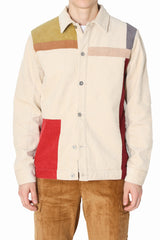 Colorblock Corduroy Blouson Jacket (Backorder)