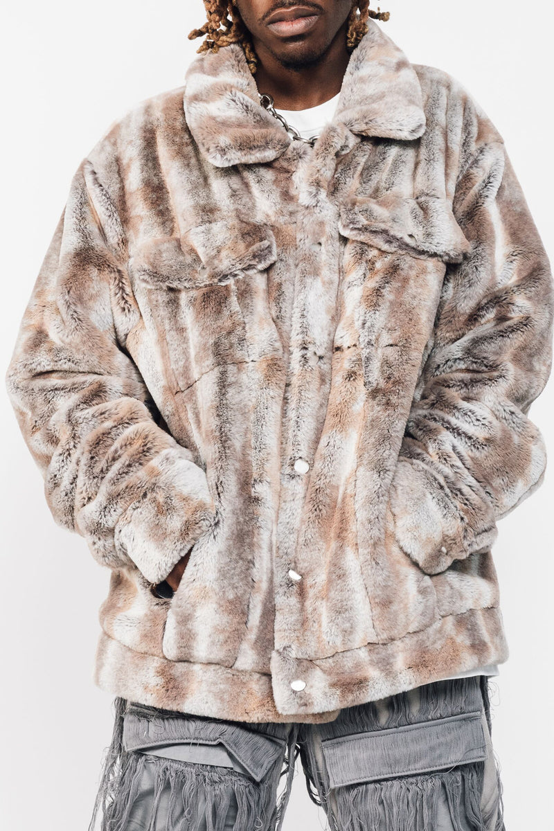Caramel Gradient Mink Fur Coat