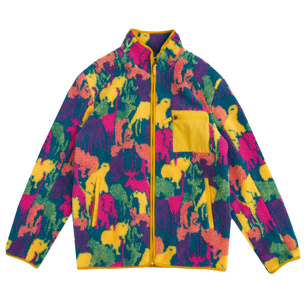 Safari Print Sherpa Full-Zip - Y.T.G