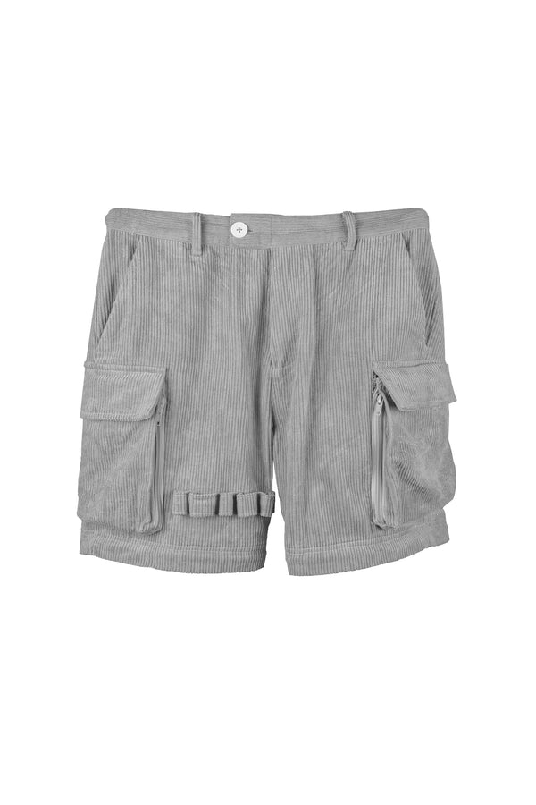 Jet Grey Corduroy Utility Tech Pants