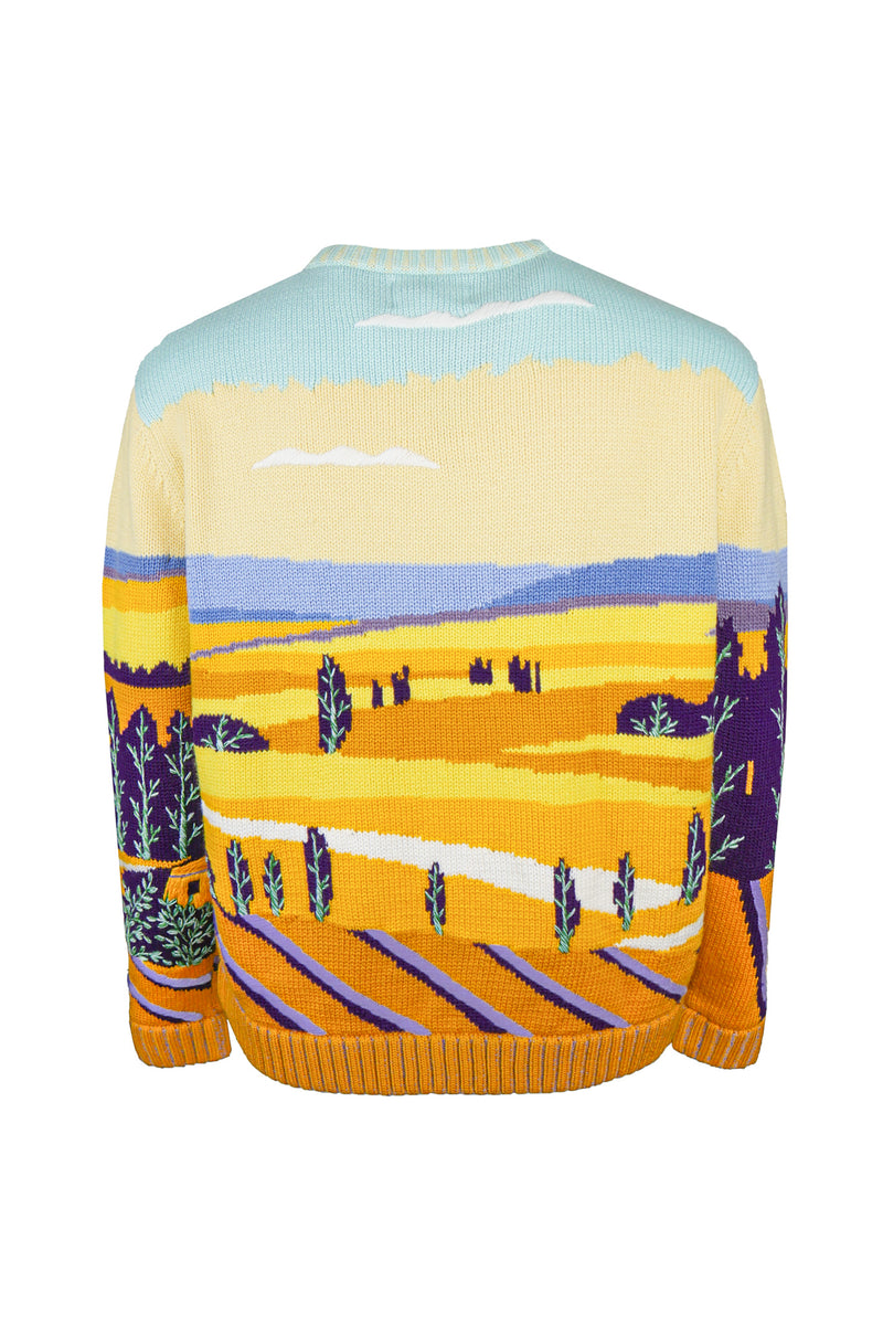 Jacquard Hand Knitted Crewneck