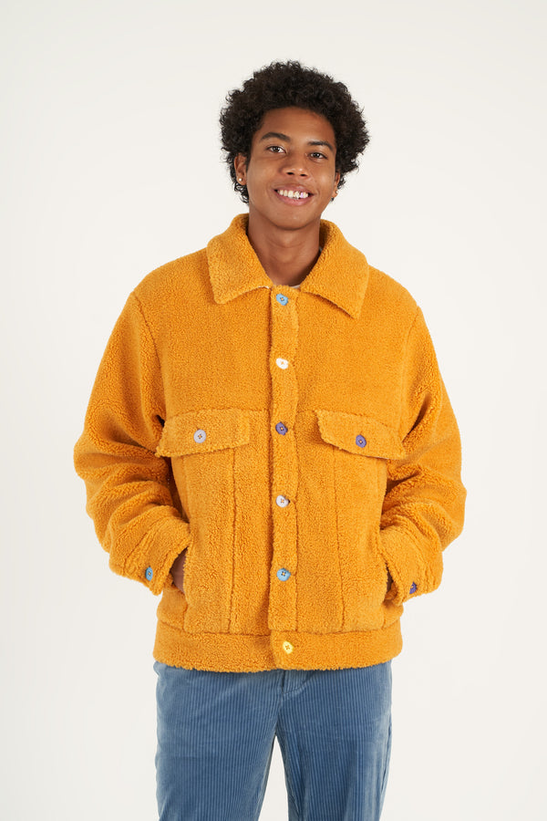 Marigold Sherpa Fleece Jacket