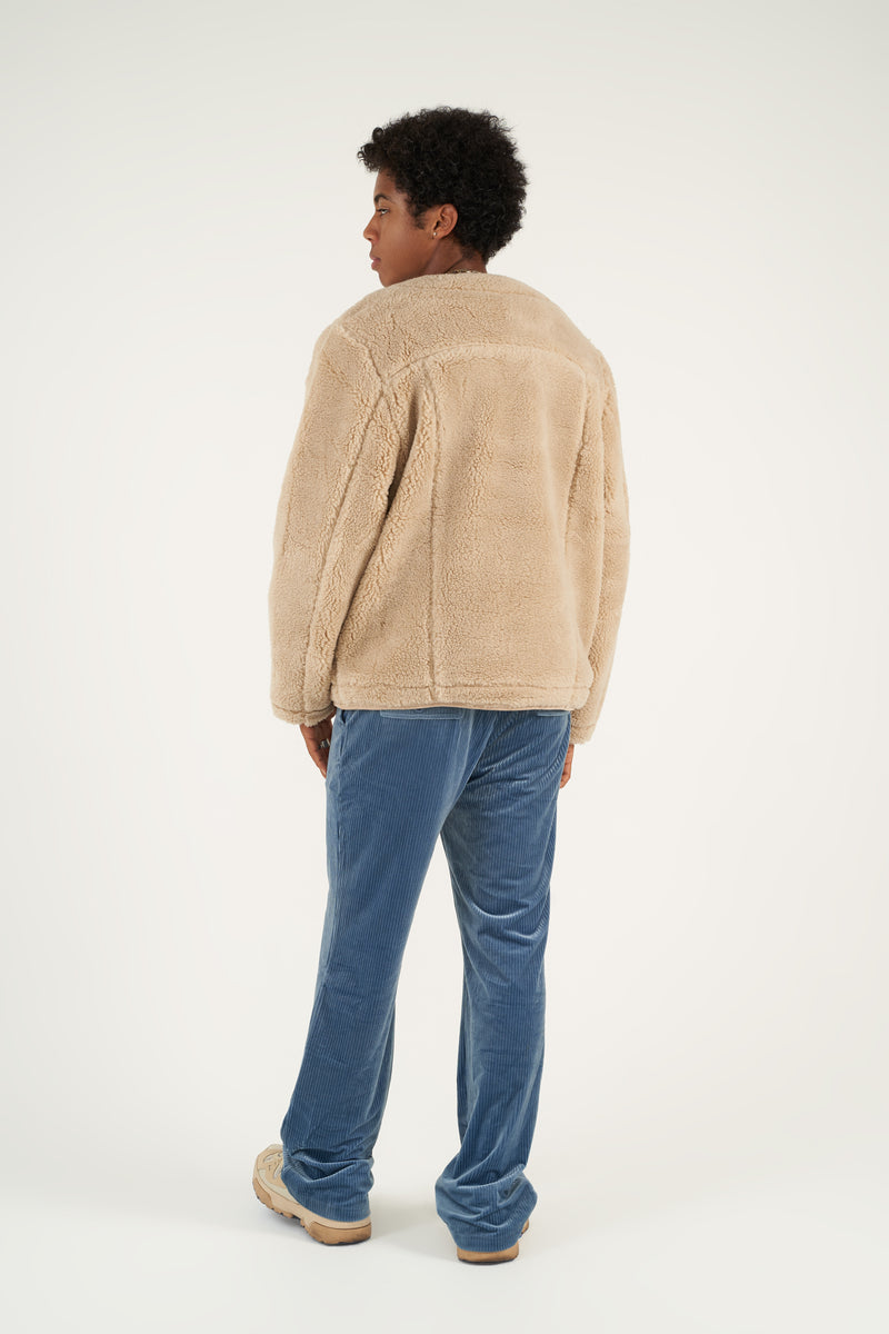 Tonal Sherpa Fleece Cardigan