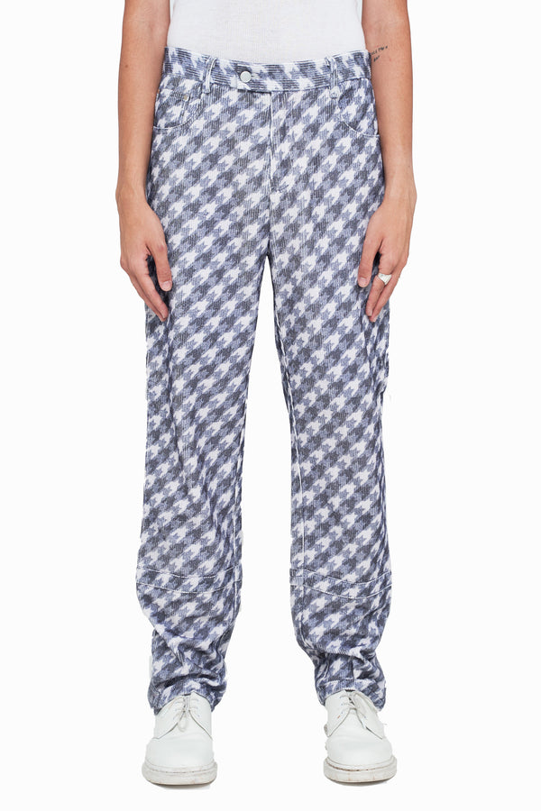 Trompe L'oeil Corduroy Houndstooth Pants (Final Sale)