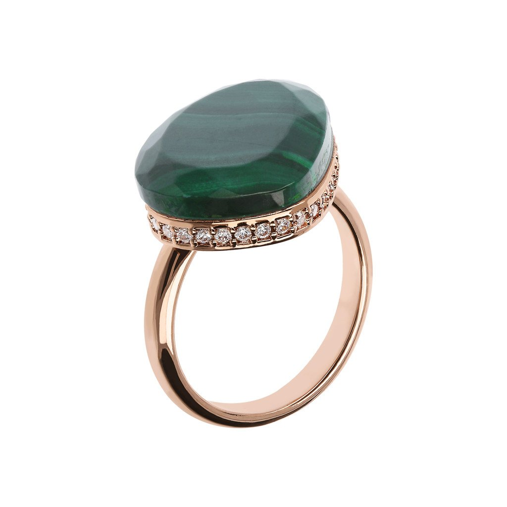 Bague Preziosa malachite verte