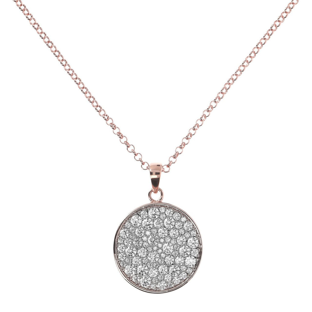 Collier long disque de zircons