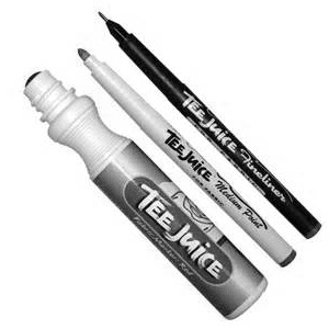TEE JUICE MARKERS - JUST BLACK SET