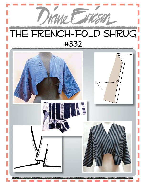 #332 - THE FRENCH-FOLD SHRUG - PAPER PATTERN