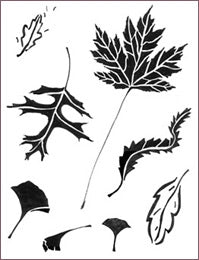 FALL LEAVES STENCIL