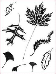 SPRING LEAVES STENCIL