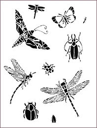 BUGS IN FLIGHT STENCIL