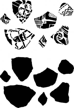 POTTERY SHARDS STENCIL