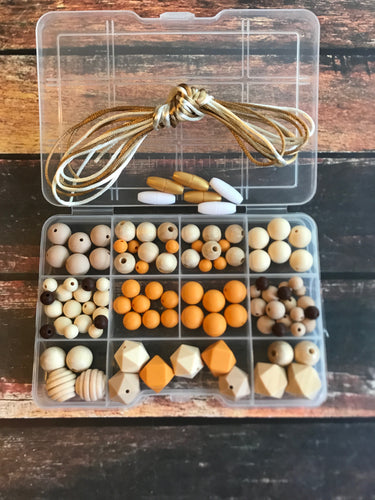 Pumpkin Spice Nursing Necklace Kit DIY