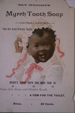 vintage advertisement for myrrh tooth soap