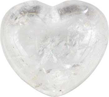 "1 3-4"" Clear Quartz Heart"
