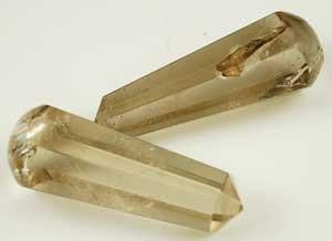 16-faceted Smoky Quartz Massager