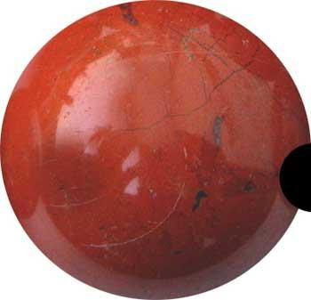 40mm Jasper, Red Sphere