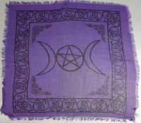 Triple Moon W-pentagram Altar Cloth 18
