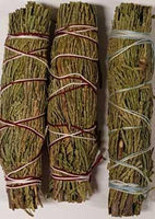 3 cedar smudge sticks