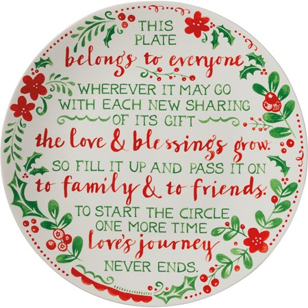 Holiday Giving Plate