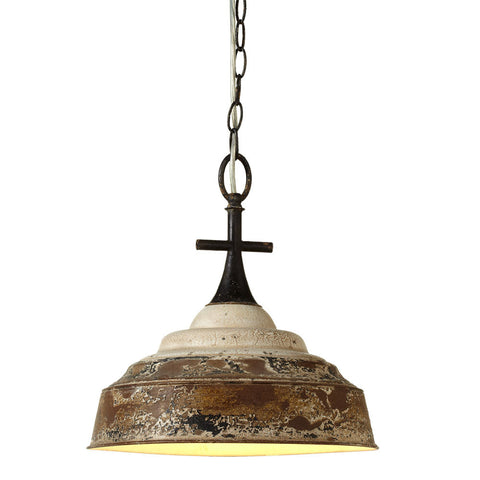 Distressed White Pendant Lamp