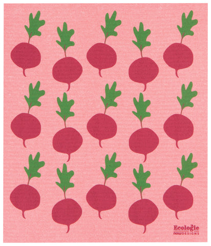 Radishes Swedish Sponge Towel