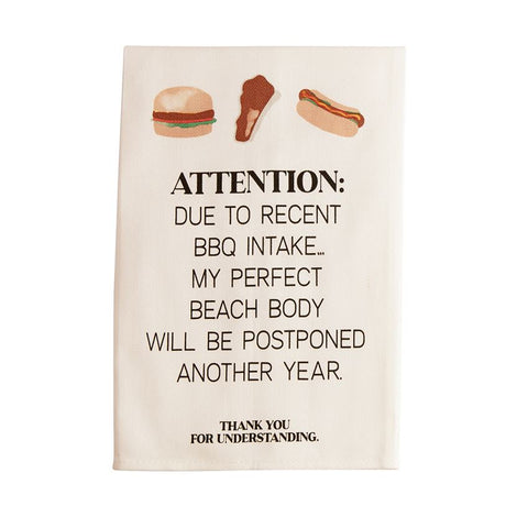 Attention BBQ Towel