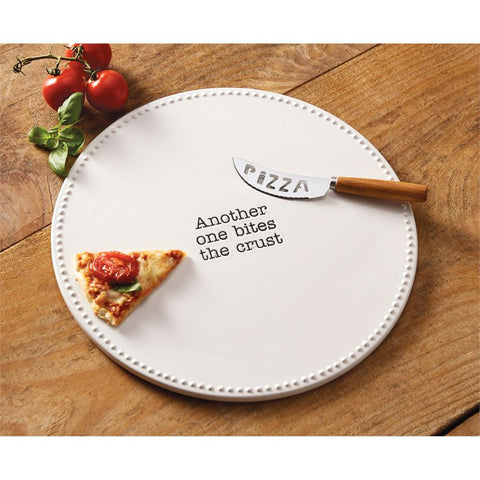 Ceramic Pizza Stone Set