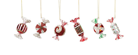 Glass Candy Ornaments