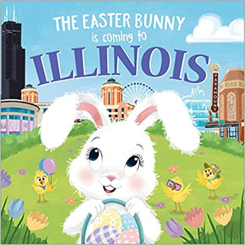 The Easter Bunny is Coming to Illinois Children's Book