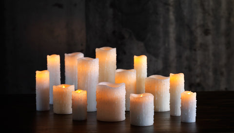 Flameless Dripping Pillar Candle - Multiple Sizes