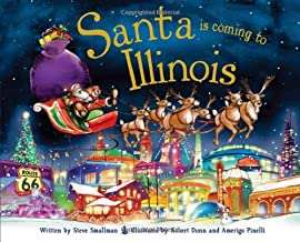 Santa Is Coming to Illinois Children's Book